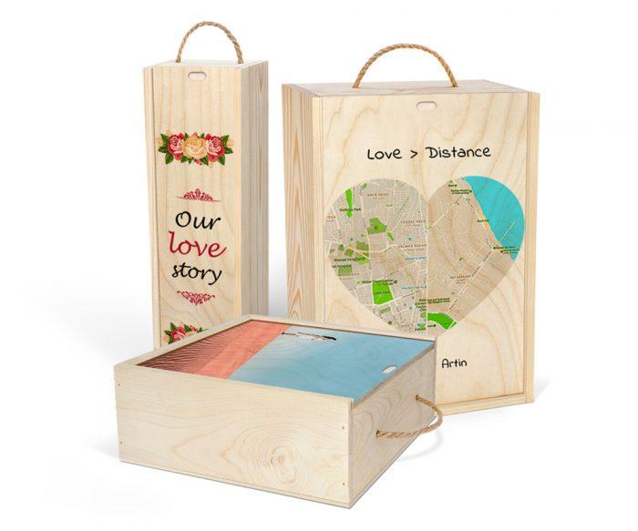 مقایسه اندازه جعبههای چوبی اختصاصی