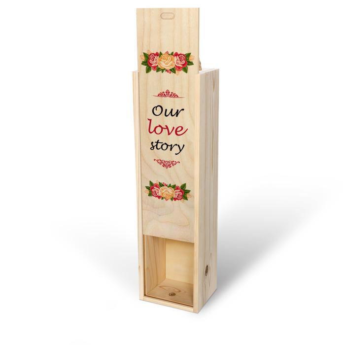 جعبه کشویی چوبی اختصاصی با در نیمه باز