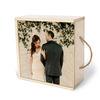 عکس عروسی چاپ شده روی جعبه چوبی اختصاصی