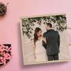 عکس عروس و داماد چاپ شده روی جعبه چوبی اختصاصی