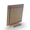 نمای پشت عکس چوبی 20x20 که روی پایه قرار گرفه است