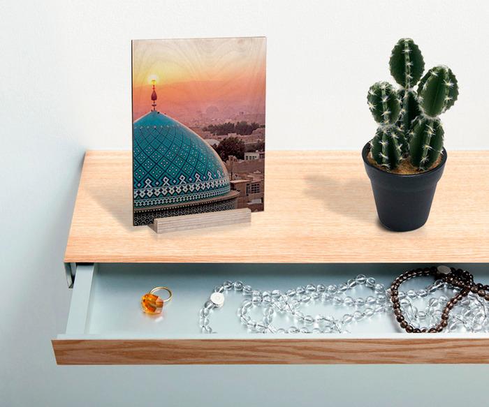 عکس چوبی 16×21 هدیه مذهبی