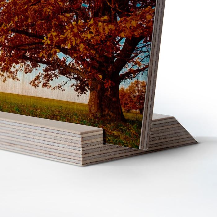 عکس چوبی 16x21 عمودی روی پایه