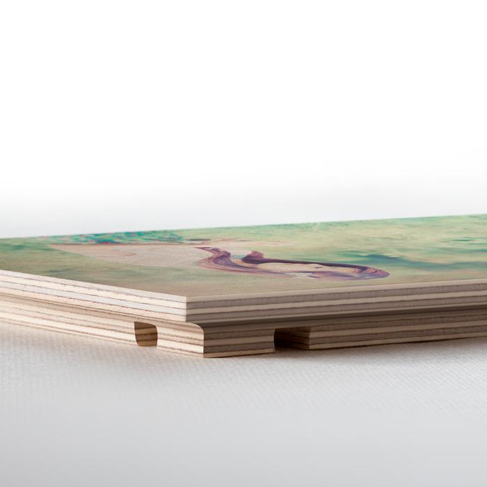 نمای کناری عکس چوبی 16x21 افقی