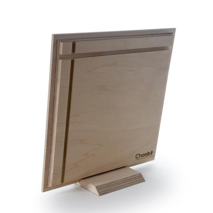نمای پشت عکس چوبی 30x30 که روی پایه قرار گرفته است