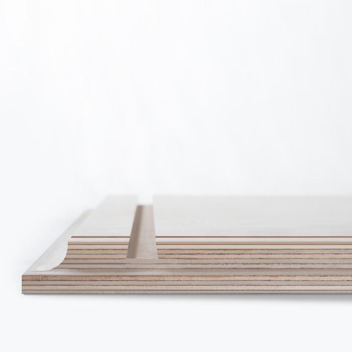 نمایی از شیار موجود در پشت عکس چوبی 30×30 برای نصب روی دیوار