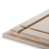 نمایی از شیارهای پشت عکس چوبی 30x30 برای نصب روی دیوار