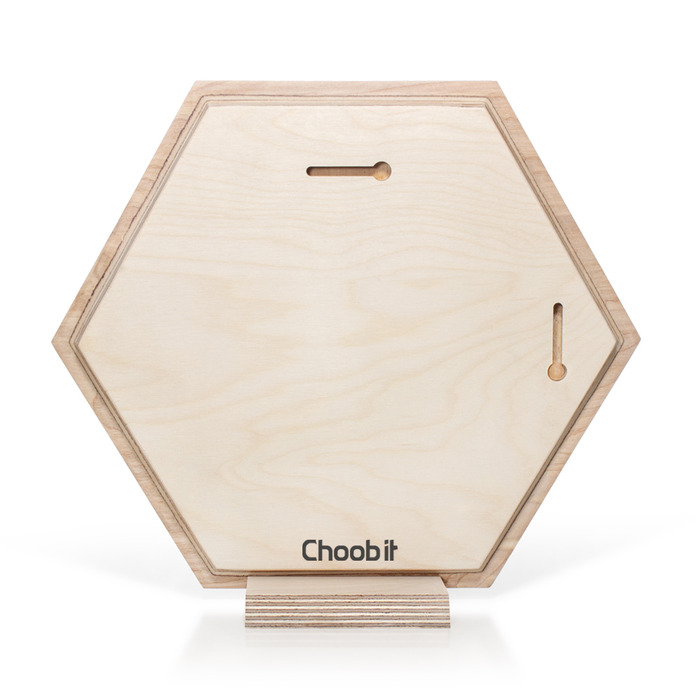 نمای پشت عکس چوبی شش ضلعی 30×30