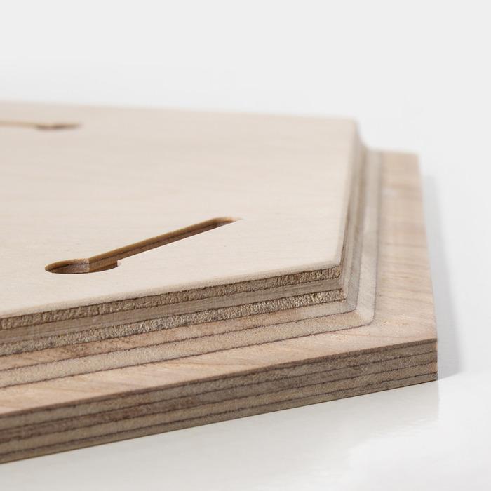 محل آویران کردن عکس چوبی شش ضلعی 30×30 افقی