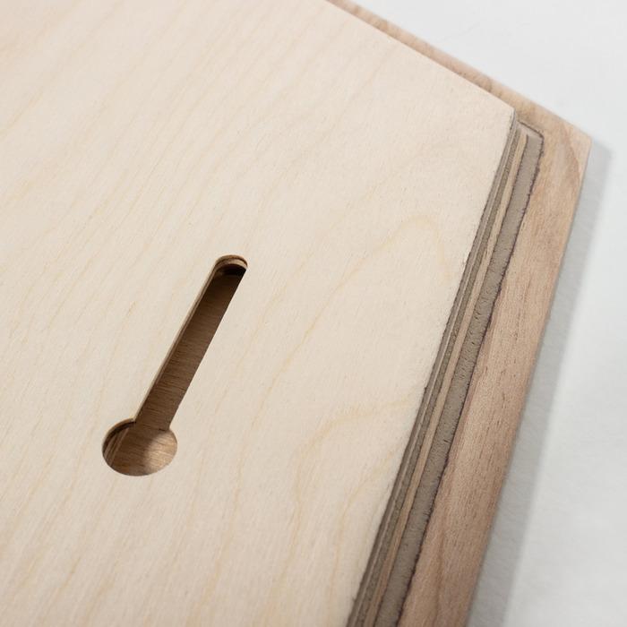 محل آویران کردن عکس چوبی شش ضلعی 30×30 عمودی