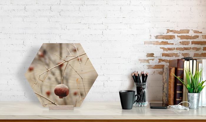 سایز عکس چوبی 30×30 شش ضلعی